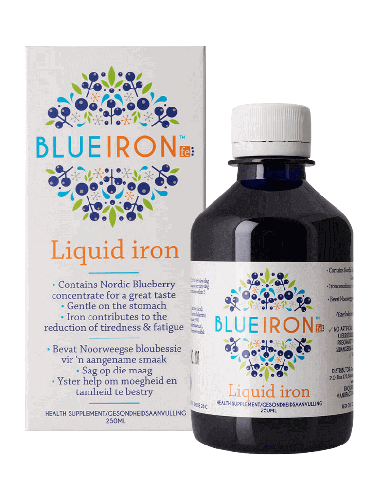 BlueIron 250ml Bottle and box